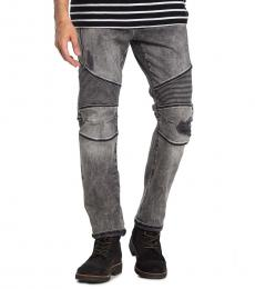 Grey Rocco Relaxed Skinny Moto Jeans