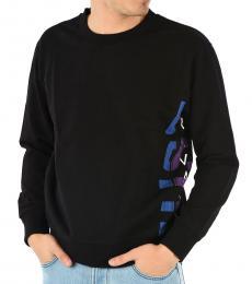 Black Logo Crewneck Sweatshirt
