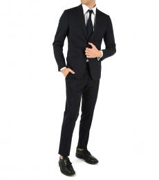 Dsquared2 Blue Wool Manchester Suit