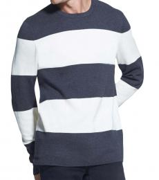 Charcoal White Striped Sweater