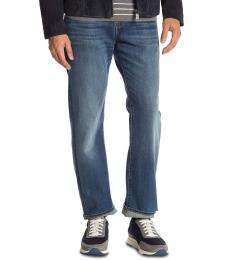 7 For All Mankind Blue Austyn Relaxed Fit Jeans