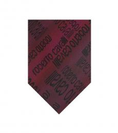 Black Red Ikat Tie