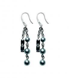 Silver Logo Cham Earrings