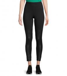 BCBGMaxazria Black Colorblock Stretch Leggings