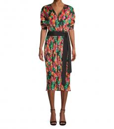 Diane Von Furstenberg Multi color Print Midi Dress
