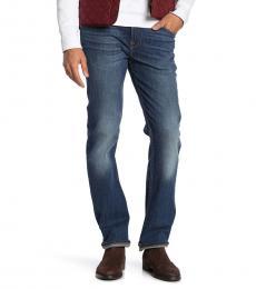 Blue Slimmy Slim Straight Jeans