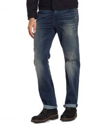 Dark Blue Rocco Relaxed Straight Fit Jeans