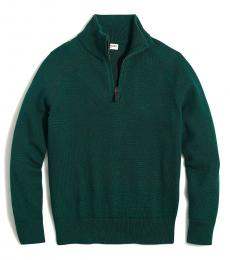 J.Crew Little Boys Academic Green Half Zip Sweater
