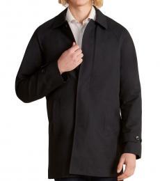 Michael Kors Black Button Front Coat
