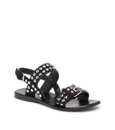 Black Tawny Studded Sandals