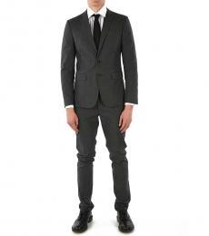 Dsquared2 Grey Side Vents Paris Suit
