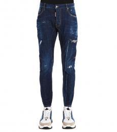 Dark Blue Tidy Biker Jeans