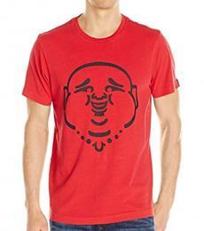 True Religion Red Original Buddha T-Shirt