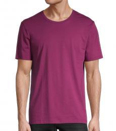 Hugo Boss Purple Tiburt Regular-Fit T-Shirt