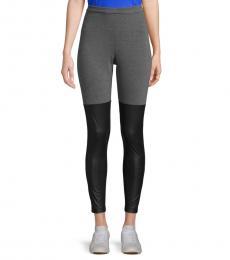 Dark Grey Colorblock Stretch Leggings