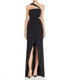 BCBGMaxazria Black Formal Cut-Out Evening Dress