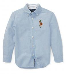 Ralph Lauren Little Boys Blue Big Pony Shirt