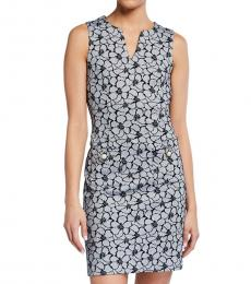 Karl Lagerfeld Black Floral Jacquard Shift Dress