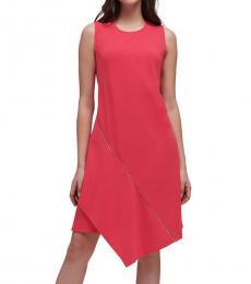 DKNY Hibiscus Sleeveless Asymmetric Dress