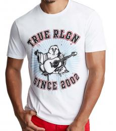 True Religion White Logo Print T-Shirt