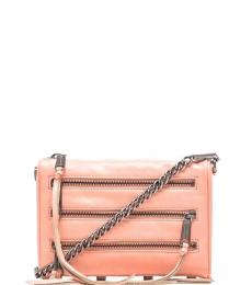 Peach 5 Zipper Small Crossbody