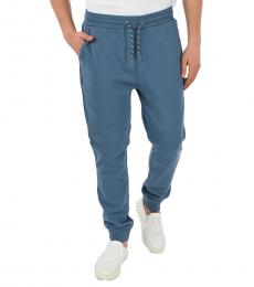 Light Blue Cotton Jersey Jogger