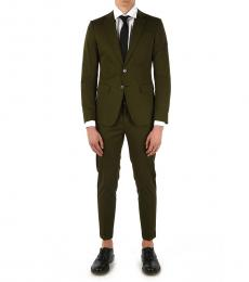 Dsquared2 Military Green Button Manchester Suit