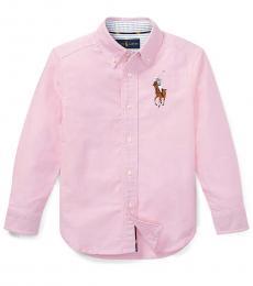Ralph Lauren Little Boys Pink Big Pony Shirt