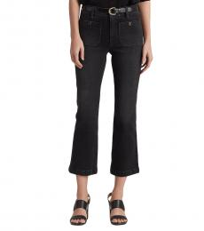 Ralph Lauren Black Stretch Classic Ankle Jean