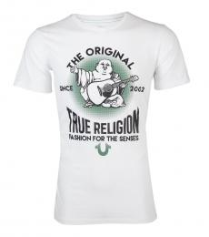 True Religion White Real Deal Buddha T-Shirt