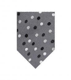 Dolce & Gabbana Grey Dot Print Tie