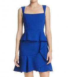 BCBGMaxazria Royal Blue Eve Tiered Midi Dress