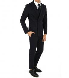 Dsquared2 Blue Double Breasted Napoli Suit