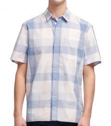 DKNY Cerulean Jumbo Gingham Shirt