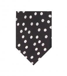 Dolce & Gabbana Black Dot Print Tie