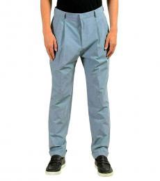 Hugo Boss Blue Pleated Casual Pants