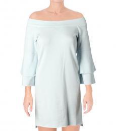 Juicy Couture Boulevard Blue Off Shoulder Dress