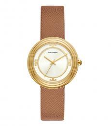Tory Burch Luggage Gold Bailey Watch