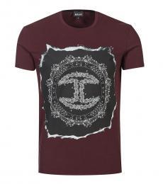 Dark Purple Graphic Print T-Shirt