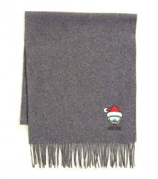 Charcoal Holiday Teddy Scarf