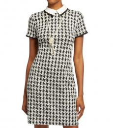 Karl Lagerfeld BlackWhite Necklace Sheath Dress