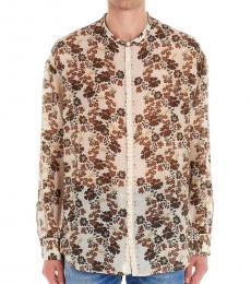 Dsquared2 Multicolor Floral Print Shirt