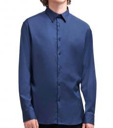 DKNY Navy SaT-Shirtn Button-Up Shirt