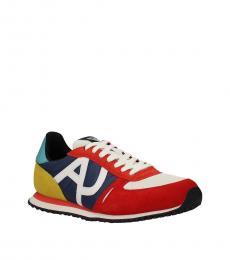 Armani Jeans Multicolor Side Logo Sneakers