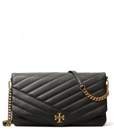 Tory Burch Black Kira Chevron Medium Shoulder Bag