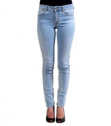 Blue Skinny Logo Jeans