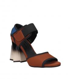 Brown Velcro Closure Heels