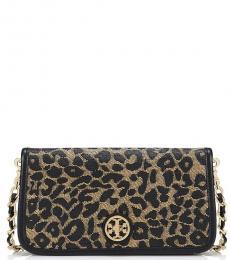 Tory Burch Leopard Print Adalyn Small Shoulder bag