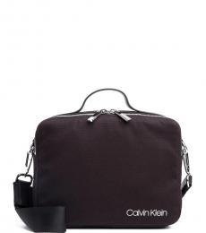 Calvin Klein Black Logo Small Briefcase Bag