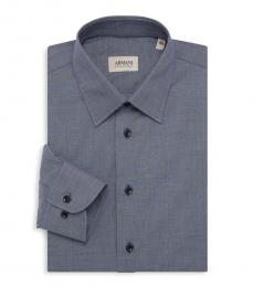 Dark Grey Textured Dress Shirt